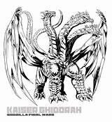 Ghidorah Kaiju sketch template