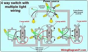 4 Way Switch Light Wiring Diagram
