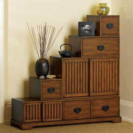 japanese style furniture reversible japanese style furniture tansu wooden step chest w storage drawers rubbed walnut