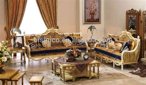 vintage furniture living room gold painting sofa