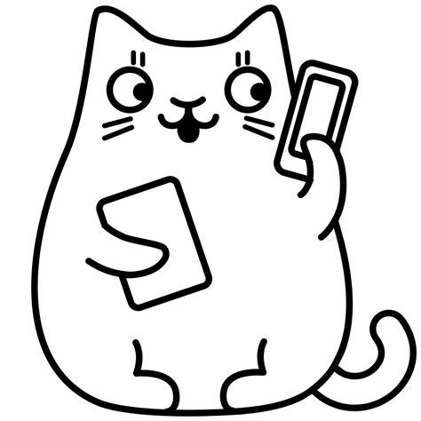 telefono da colorare telefono di gatto disegni da colorare ultra coloring pages