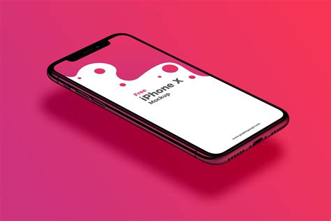 Iphone Mockup Gorgeous Floating Free Iphone X Mockup For Ios Apps