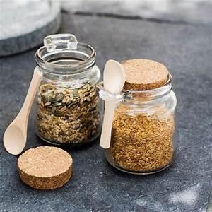 Pots à épices : pot pices en verre et li ge avec cuill re 250 ml set de 2 decoclico ~ Teatrodelosmanantiales.com Idées de Décoration
