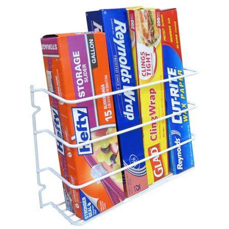 evelots wall door mount kitchen wrap organizer rack