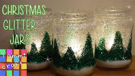 christmas glitter jars tutorial christmas decoration