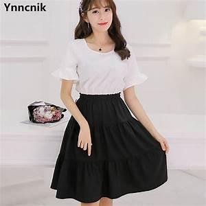 Ynncnik 2017 New Korean Dress Women Patchwork Short Sleeve ...