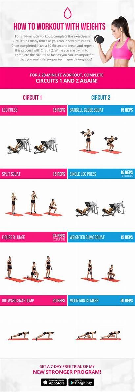 Workout Weights Bbg Kayla Workouts Itsines Program