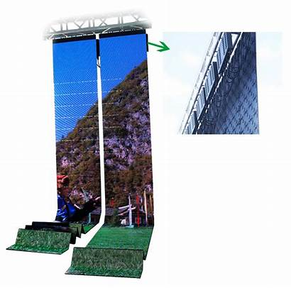 Foldable Led Display Screen 0mm 91mm Pitch