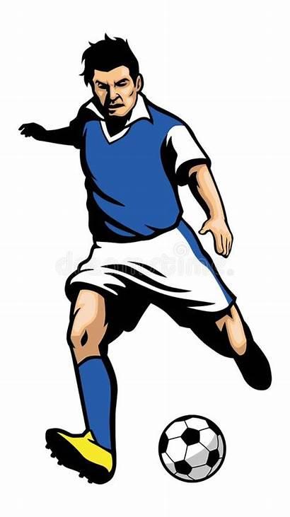 Soccer Footballeur Player Ball Shooting Voetballer Calciatore