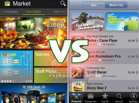 android market free android market und apple itunes app eine