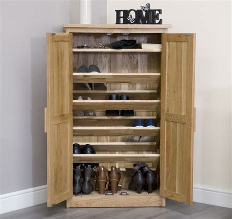 Shoes Cupboard by Arden Solid Oak Hallway Furniture Shoe Storage Cabinet