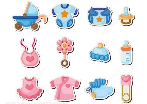 printable baby shower stickers  printable papercraft