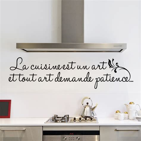 sticker la cuisine est un stickers citations français ambiance sticker
