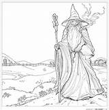 Coloring Colouring Pages Tolkien Adults Hobbit Gandalf Books Lord Rings Pattern Adult Geeky Tolkiens Whsmith Printable Colour Earth Pencils Sheets sketch template
