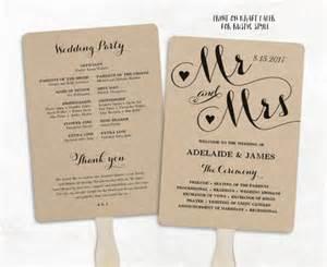 cheap wedding programs printable wedding program template fan wedding program cheap diy kraft wedding programs