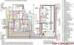 Sch U00e9ma Faisceau  U00e9lectrique De Vw Cox Coccinelle 1200 1300 1302 1303  Sur Car Concept