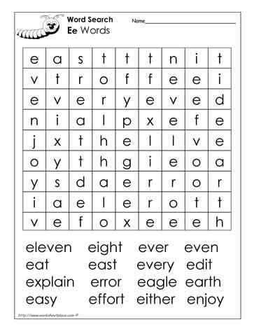 letter e word search pre k work printables 451   729db64868e3a2734634c8e4799427b3 letter e word search