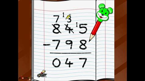 maths  digit subtraction english youtube