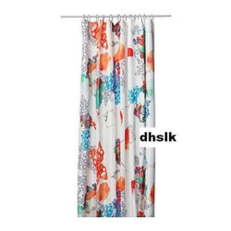 ikea tallholmen bold flowers fabric shower curtain orange