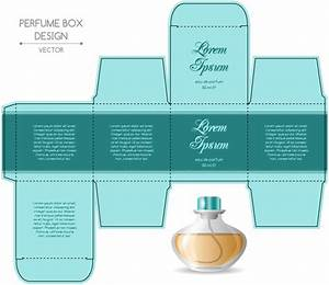 perfume box packaging template vectors material 08 free With cologne box template