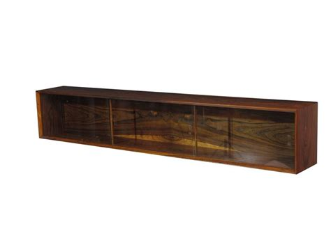 Wall Mount Floating Danish Rosewood Credenza At 1stdibs