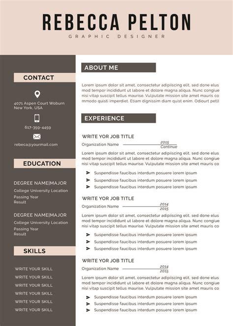 professional resume template modern cv template  word