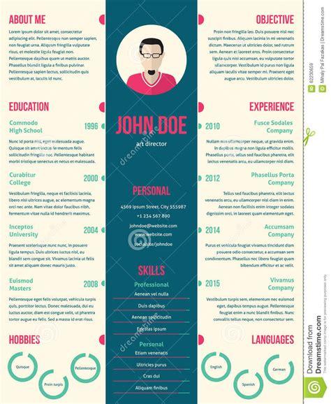 modern resume cv template  employment stock vector