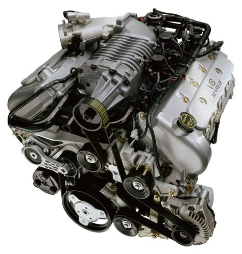 ford mustang svt cobra   supercharged engine