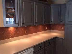 kitchen copper backsplash hometalk diy kitchen copper backsplash