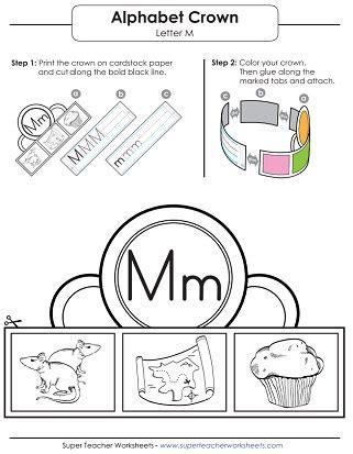 letter m worksheets recognize trace print