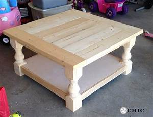 diy square coffee table shanty 2 chic With easy to build coffee table