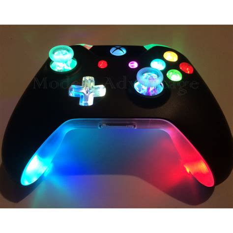 dark and light xbox one xbox one controller full color changing led mod