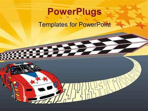 race car template powerpoint template fast racing car illustration with starry glowing illustration 24449