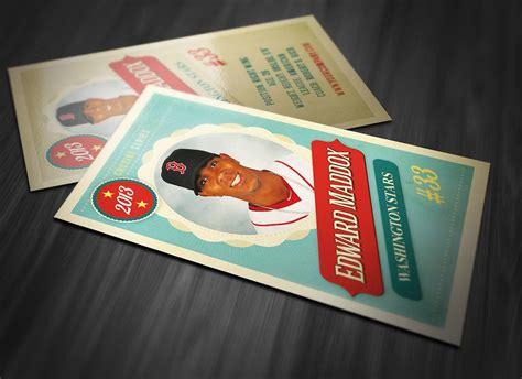retro trading card template  card templates creative