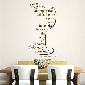 wine quote wall sticker by mirrorin notonthehighstreetcom With awesome wine decals for walls ideas