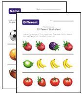 preschool  kindergarten concepts worksheets kids