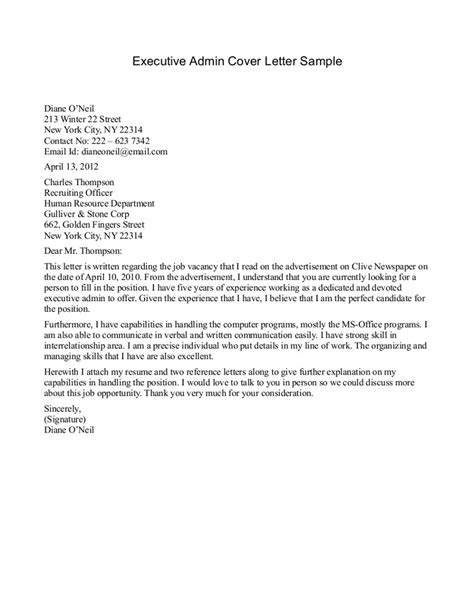 cover letter exles for 2 executive cover letter format best template collection