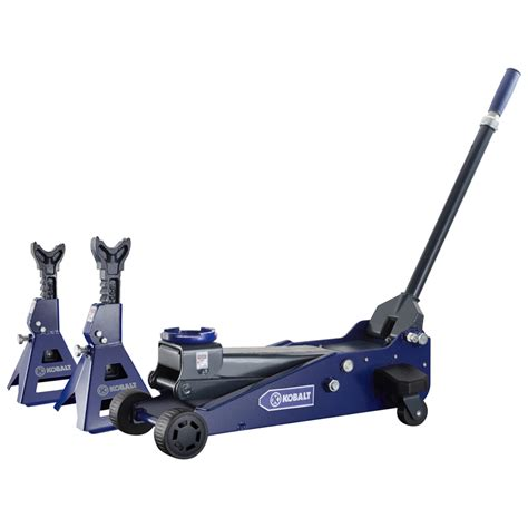 kobalt floor shop kobalt 3 ton garage and stands with laser