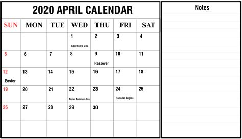 blank april printable calendar excel word