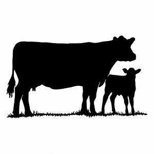 Cow With Calf Die Cut Decal Car Window Wall By