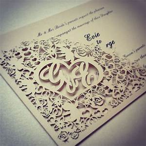 cherub flower pearlescent laser cut corner pocket With laser cut wedding invitations cost