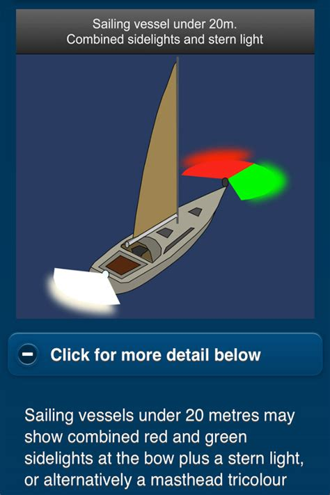 Boat Lights At Night Rules learn navigation lights shapes international colregs