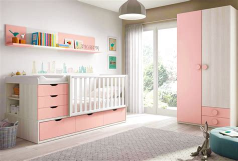 chambre de bébé fille complète avec lit évolutif