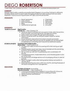 night auditor resume examples free to try today With auditor resume