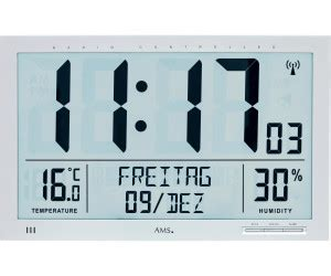 ams digitale funk wanduhr thermometer hygrometer