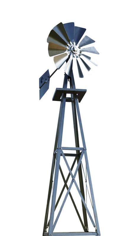 Outdoor Water Solutions Galvanized Backyard Windmill