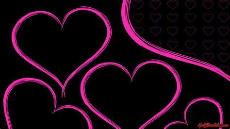 Pink Hearts Wallpaper Hd