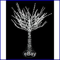 12 days of christmas metal yard art 8 ft led pre lit bare branch tree with white lights yard decoration