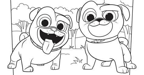 Puppy Pals Bingo Dog Coloring Pages