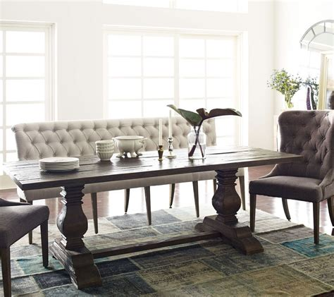 Settee Bench Dining Table by Tufted Upholstered Dining Bench Banquette In 2019